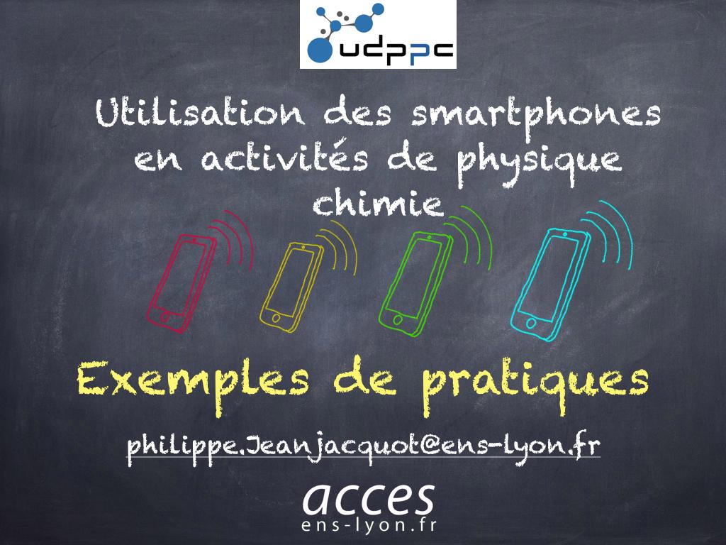 exemple d'utilisation des smartphones pour journée UDPPC à Tours