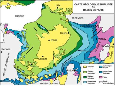 carte du sous-sol du BP