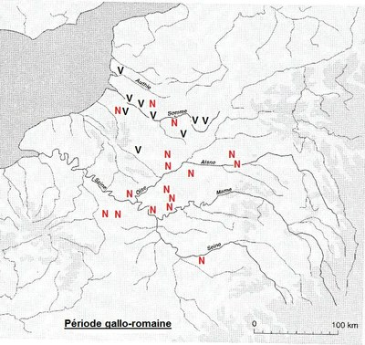 répartition des blés nus et vêtus dans la RP et le Nord à la période gallo-romaine_imag brute