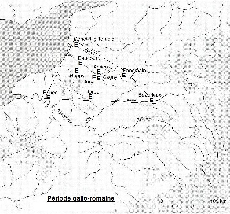 répartition de l'épeautre en RP et dans le Nord à la période gallo-romaine