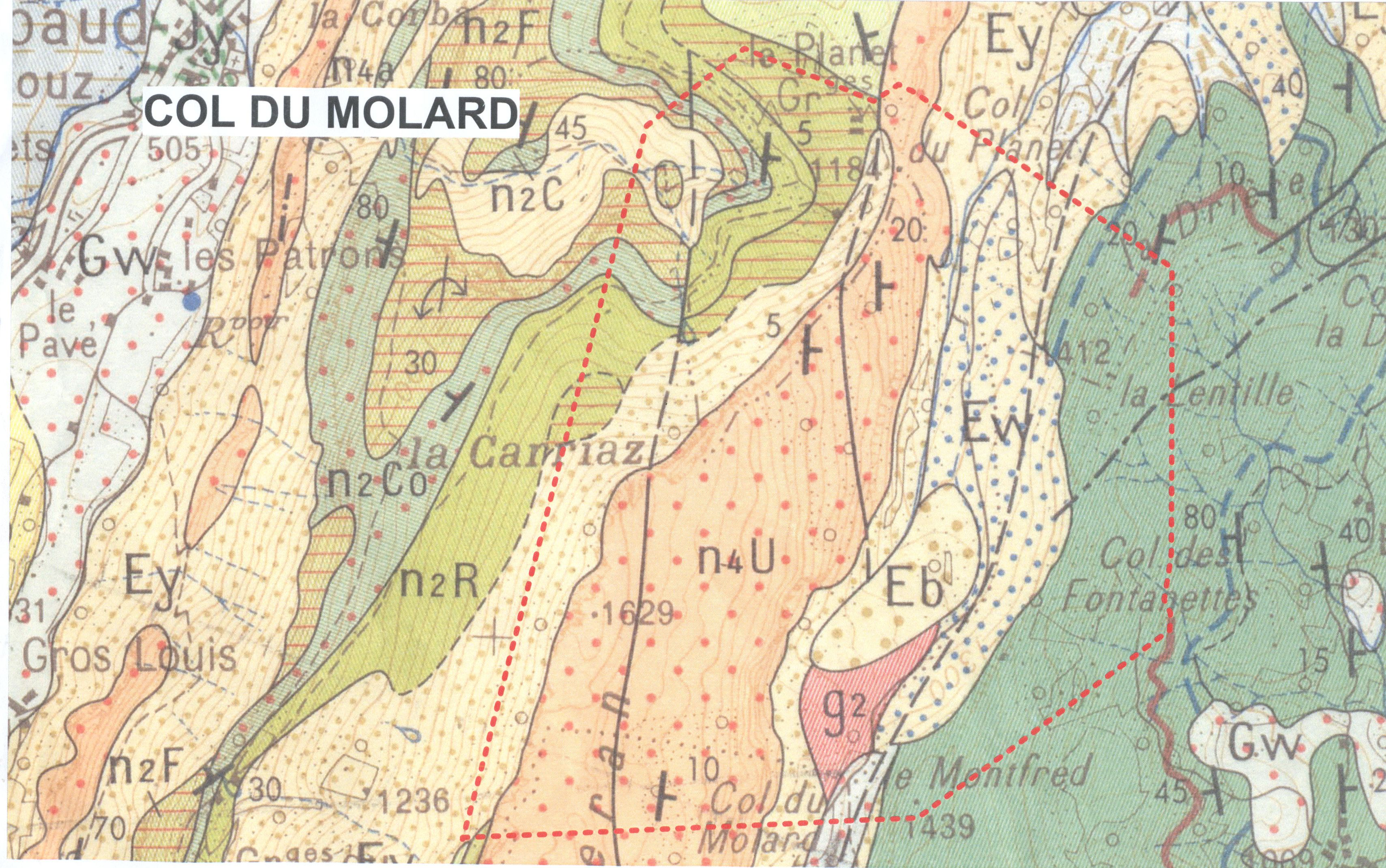 Carte géologique interprétative — Site des ressources d'ACCES pour