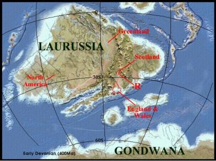 carte paleogeographique