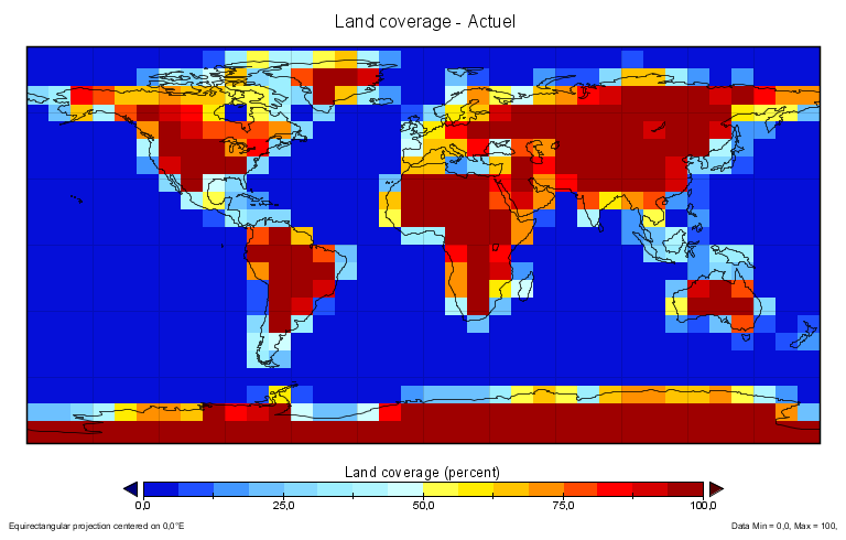Land coverage equi-2 actuel