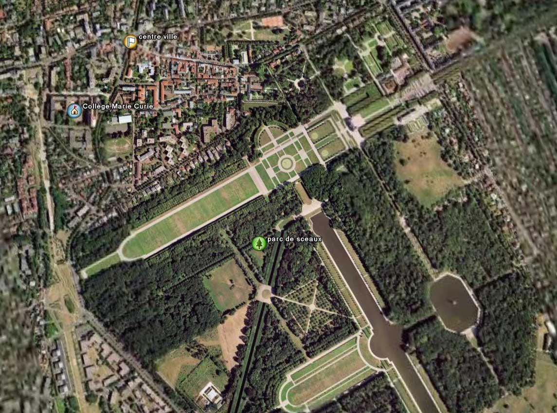 Localisation du collège Marie Curie
