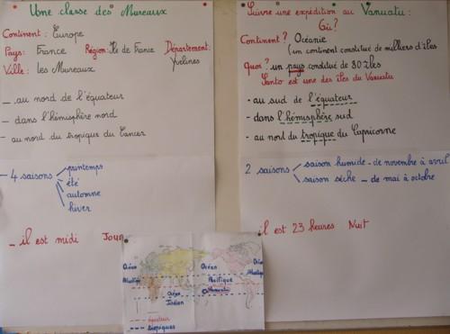 Comparaison des données France - Vanuatu.