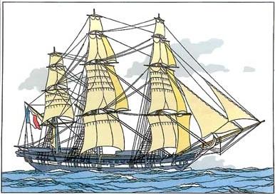 navire19 ème siècle