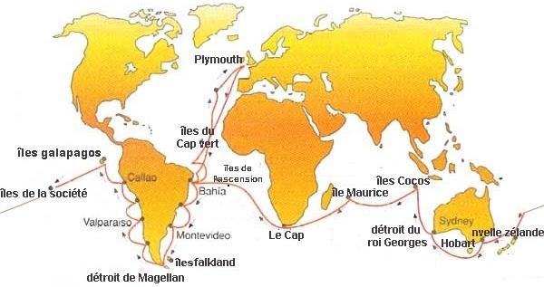 voyage de Charles Darwin 1831-1836
